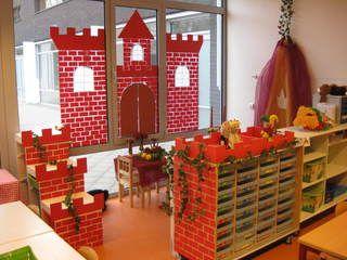 Aankleding themahoek: ridders/prinsessen en kastelen