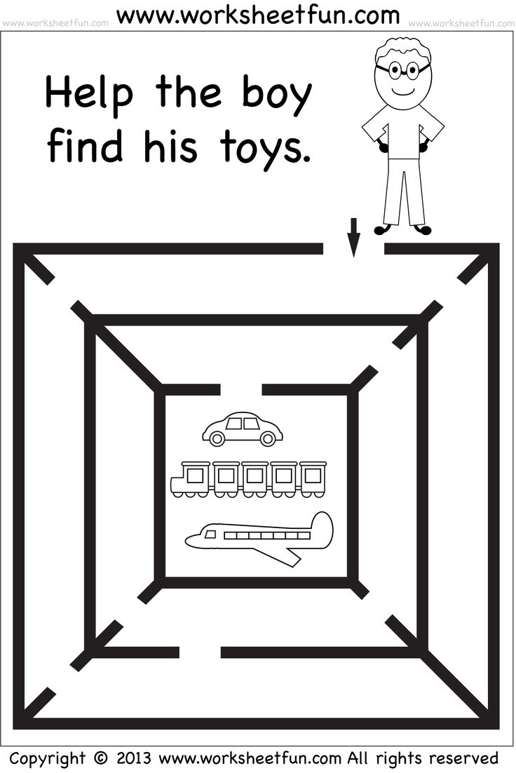 It's just a graphic of Universal Preschool Maze Printable