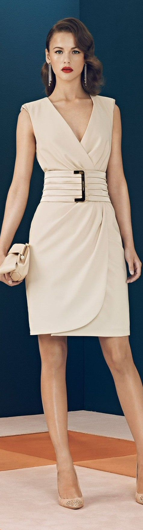 @roressclothes clothing ideas #women fashion beige dress