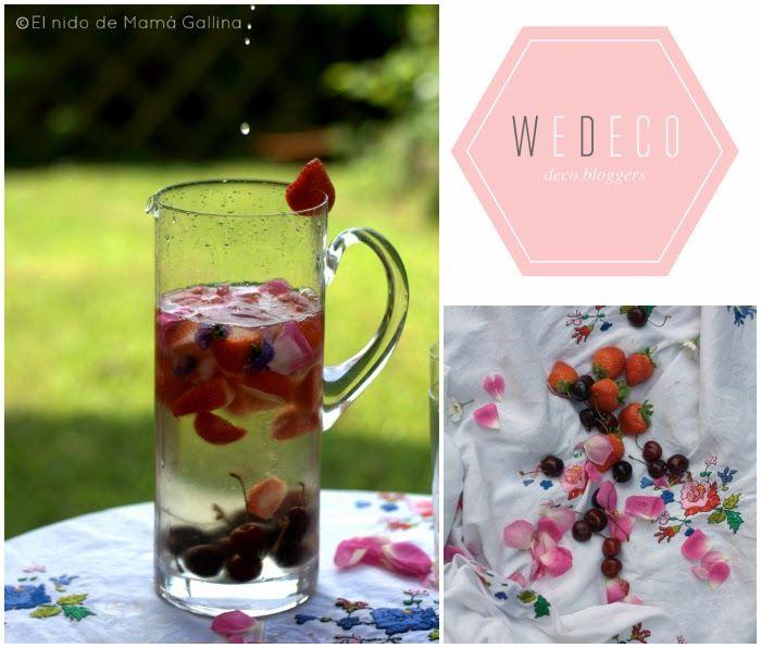 Sangría blanca de cerezas y fresas