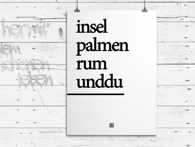 Poster mit romantischem Spruch / poster, artprint, black and white, handwritten made by heyhey via DaWanda.com