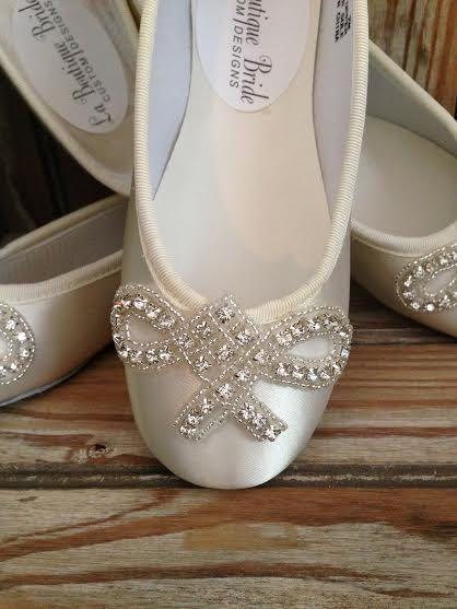 Custom Ballet Style Flower Girl Shoes Satin by LaBoutiqueBride