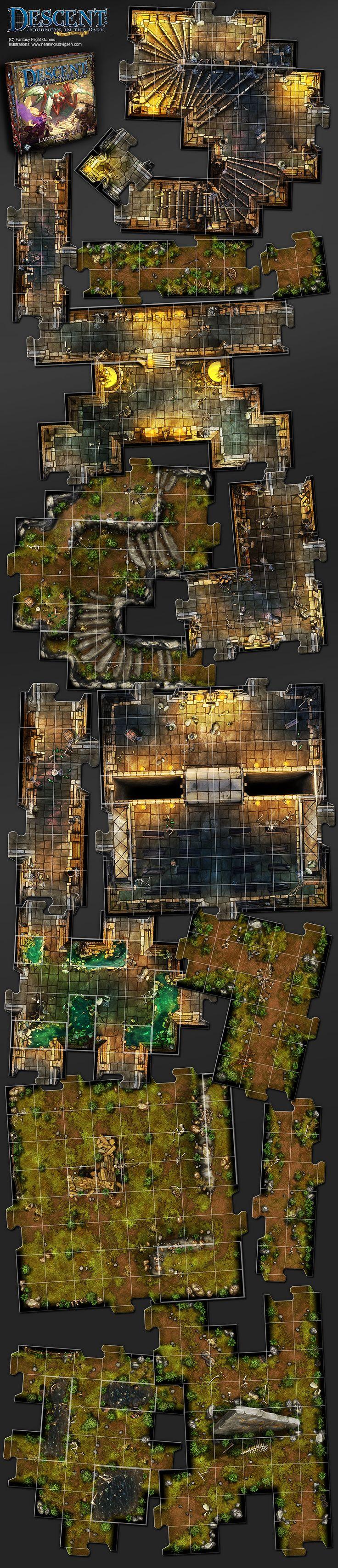 Descent, Labyrinth Of Ruin expansion by henning.deviantart.com on @DeviantArt