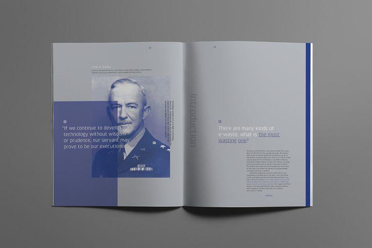 Booklet Design #Smart Phone E-waste on Editorial Design Served