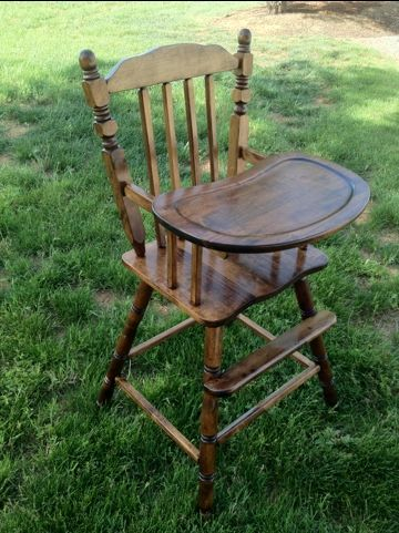 how to refinish an old wooden high chair