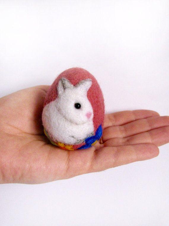 Easter eggs-felt eggs-wool felt eggs-Ester by FeltedToysUA on Etsy
