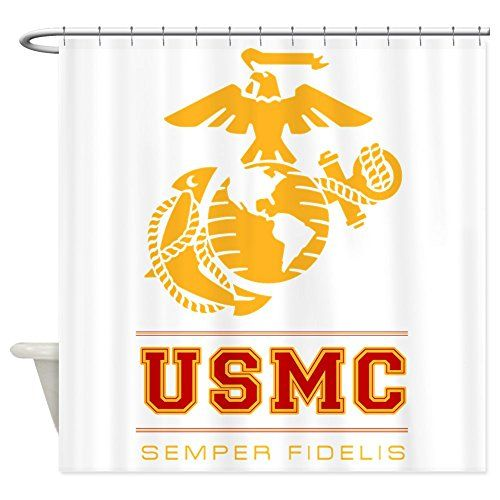 Bathroom Rugs Ideas | CafePress  USMC Semper Fidelis Shower Curtain  Decorative Fabric Shower Curtain ** See this great product. Note:It is Affiliate Link to Amazon.