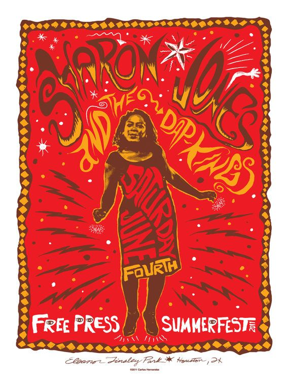 (One of my favorite bands to see live!) Sharon Jones and the Dap Kings by Carlos Hernandez on Etsy, $20.00