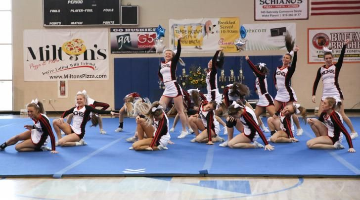 Via @HighSchoolOT: 2015 Wake County Schools Cheerleading Competition (Jan. 24, 2015)