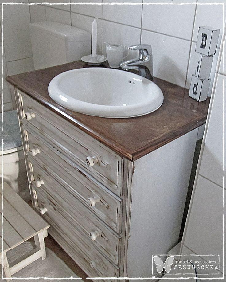 wesnuschka mein projekt waschtisch im shabby chic wohnung pinterest waschtisch shabby. Black Bedroom Furniture Sets. Home Design Ideas