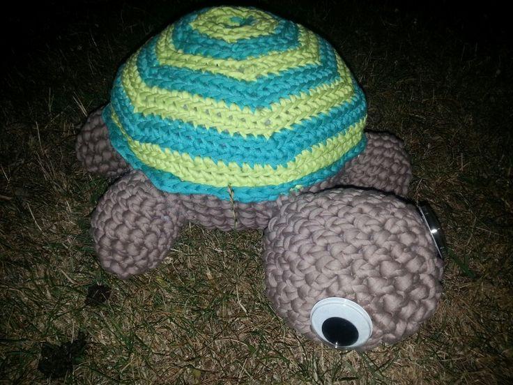 La tortuga YoYo!! Cojin hecho de trapillo. ☆ l &l ☆ handmade