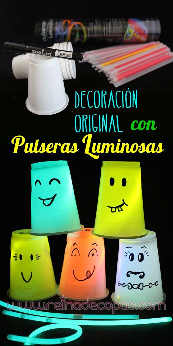 Decora tus fiestas, halloween, fiestas infantiles, cumpleaños... Económico y muy original. http://www.reinadecopas.com/es/luminosos/9-pulseras-luminosas-100-uds.html