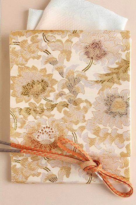 【織匠小平】特選西陣唐織袋帯「天平牡丹唐草文」正絹袋帯