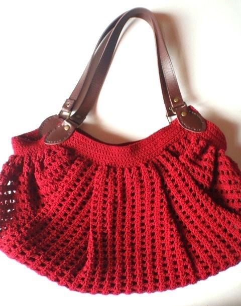 Fat Bottom Crochet Bag in Red