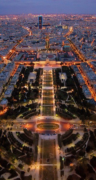 A stunning view from the Eiffel Tower ~ Paris
