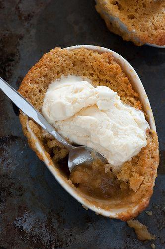 self-saucing ginger puddings - 5 ingredients | simple baking.