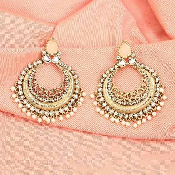 Costume Ethnic Bollywood Fashion Indian Earrings Jhumka Jhumki #DesaiJewellers #DropDangle