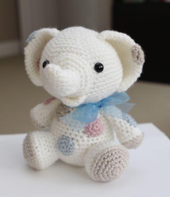 Amigurumi Crochet patrón  cacahuete al elefante por littlemuggles