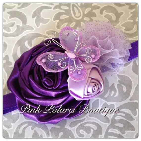 I Dream of Purple Couture Headband on Etsy, $13.50
