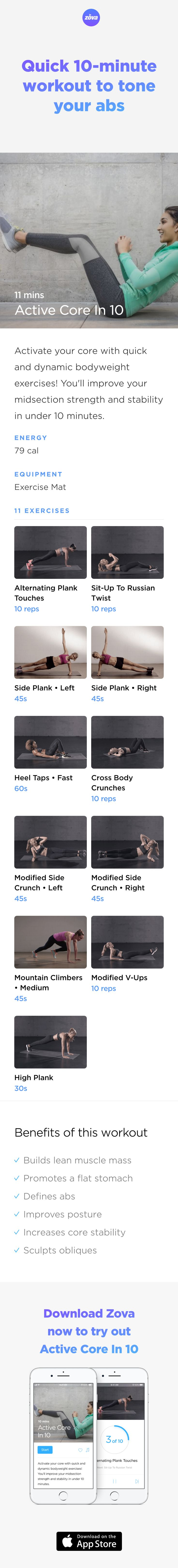 Including a new set of exercises in your workout will help to avoid having bored muscles. You'll get fit, faster and be able to burn fat more effectively. This short ab workout is the perfect addition to any fitness regime as it'll get results quickly and can be done anywhere! #abs #workout #fitness