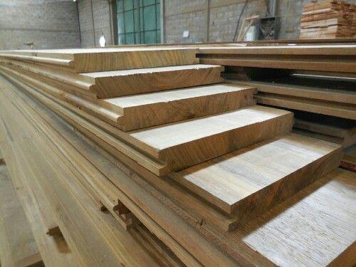 Reclaimed teak flooring