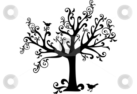 Image detail for -Ornamental tree stock vector clipart, Ornamental tree with swirls and ...