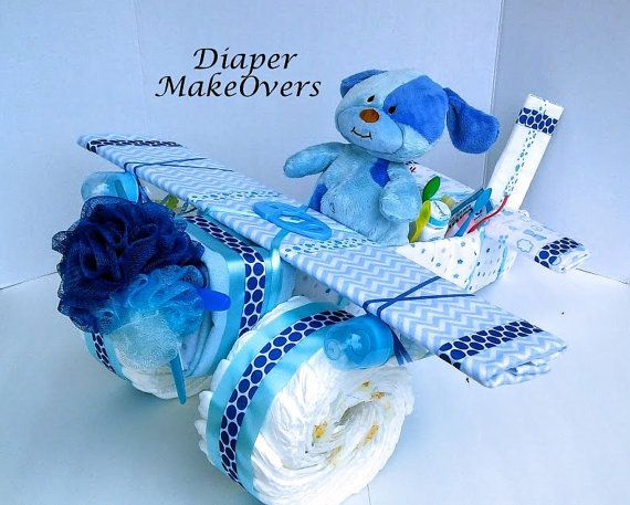 Unique Diaper Cake Unique Baby Shower Gift or by DiaperMakeOvers