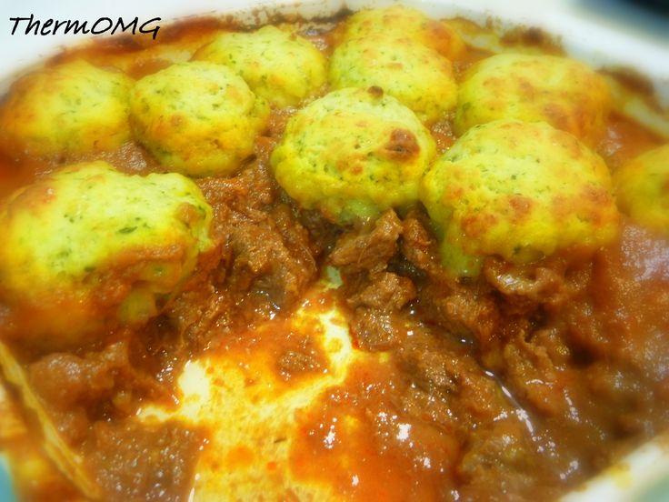 Beef Bourguignon with Basil and Parmesan Dumplings