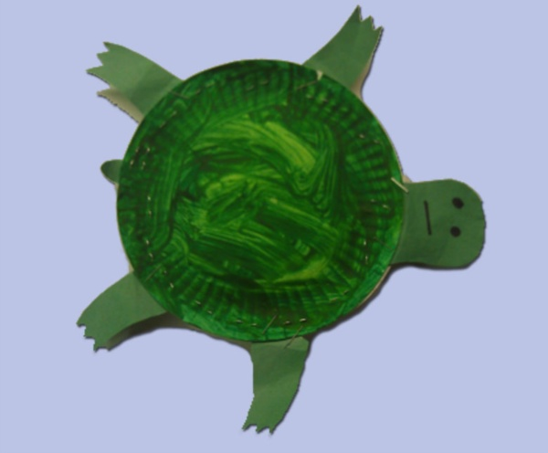 Paper plate turtle preschool art project child care arts for Turtle arts and crafts