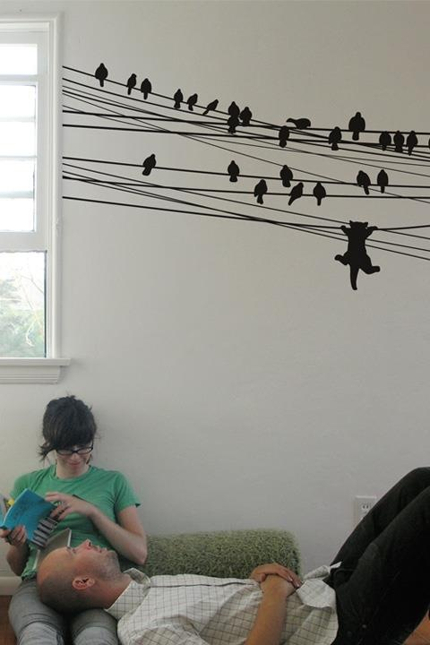 Do you like wall stickers ? If yes here is a fun wall sticker idea for you.