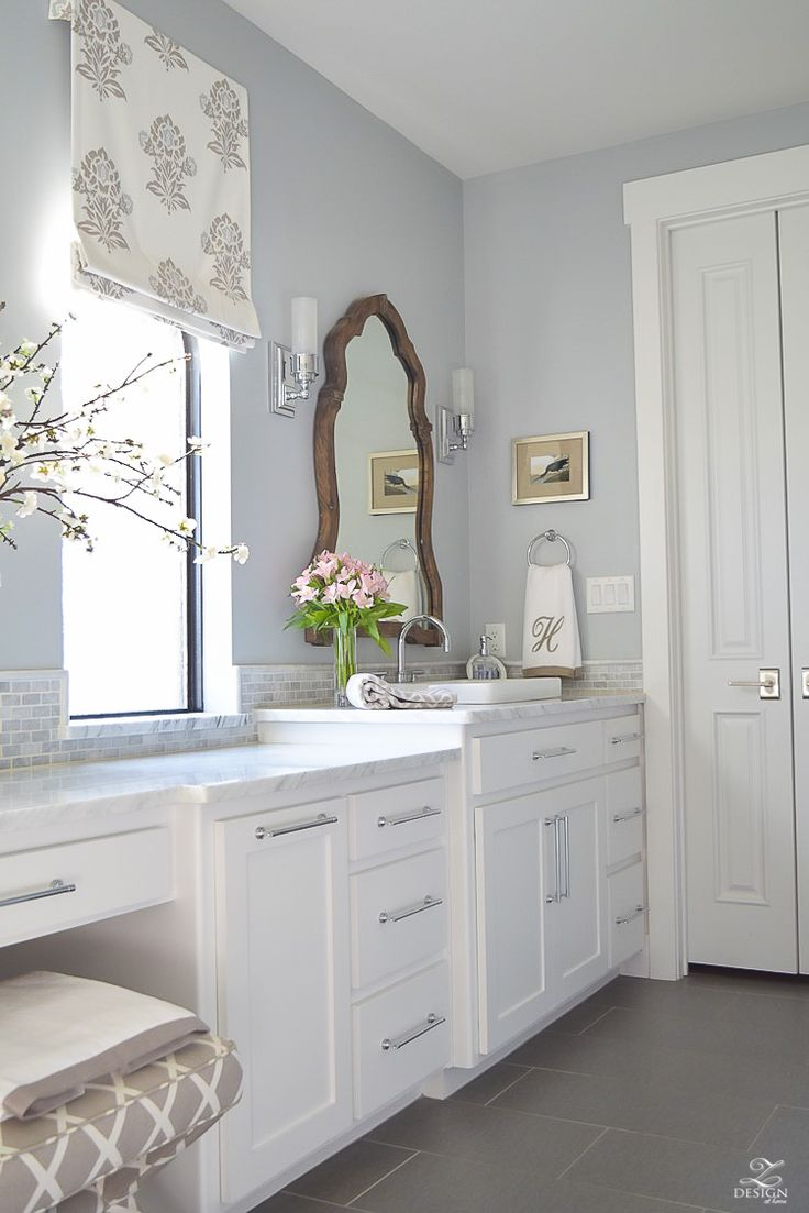 Light blue and white bathroom - Favorite Paint Colors