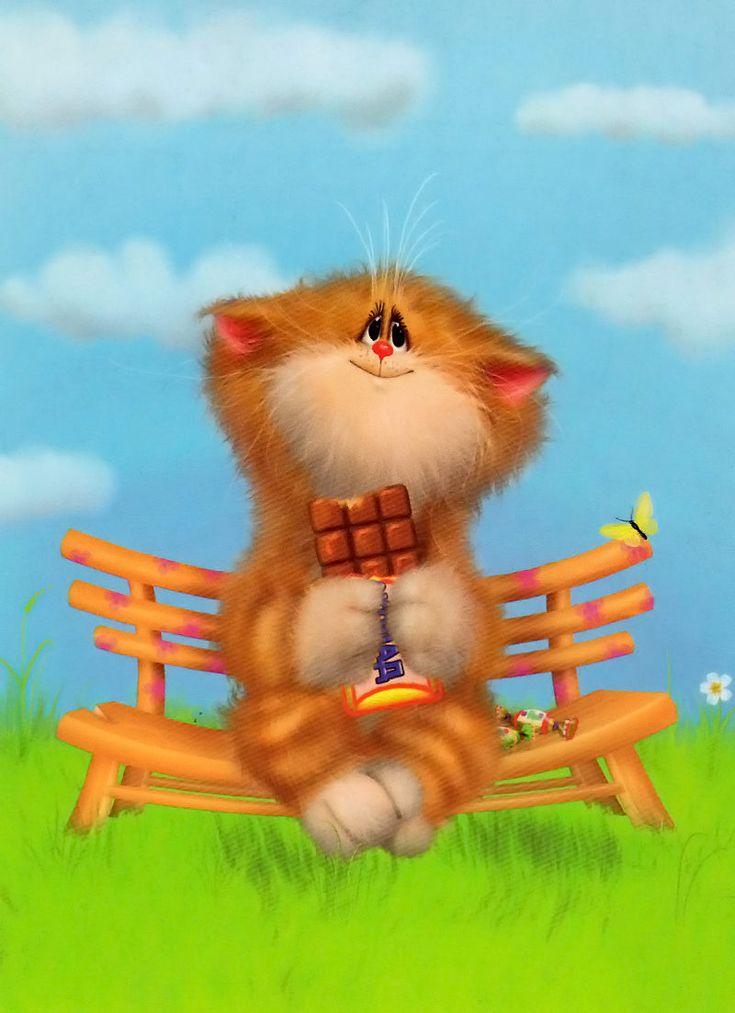Смешные открытки котики