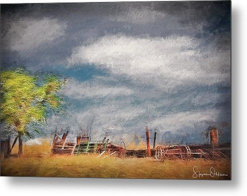 Old Farm Equipment - Antelope Island - Signed Limited Edition - Metal Print