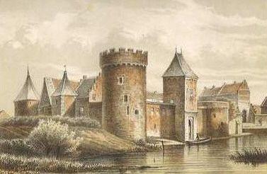 Het kasteel van Medemblik door Cornelis Springer