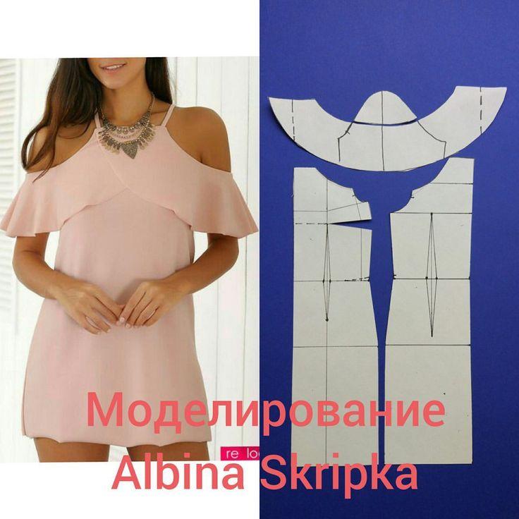 Cold shoulder top pattern