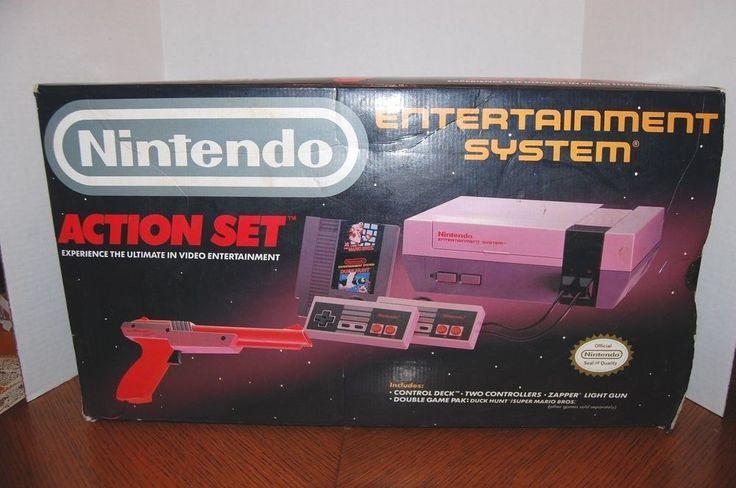 Original Classic Nintendo Game Console Action Set Controllers Zapper Games in Video Games & Consoles | eBay