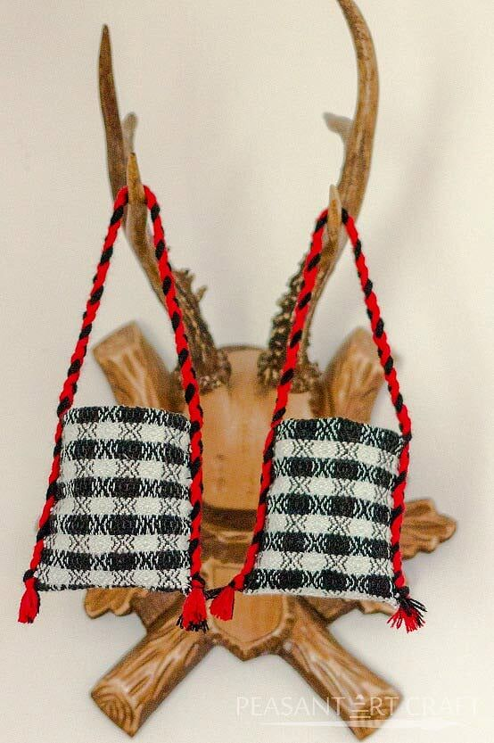 The Black and White Hand Woven Peasant Bag