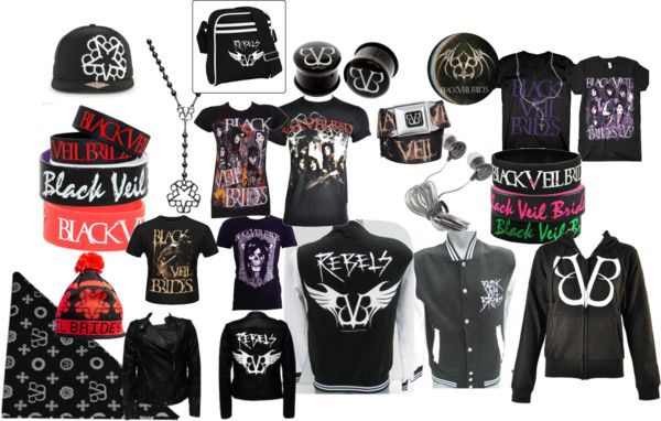 """BLACK VEIL BRIDES MERCH 3"" by theemocrayonmuncher ❤ liked on Polyvore"