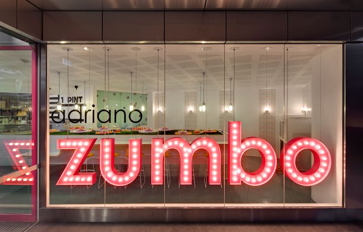 Our sign design + fabrication for Zumbo had to look as enticing as his cupcakes!  3D fabrication | Retail creative design signage