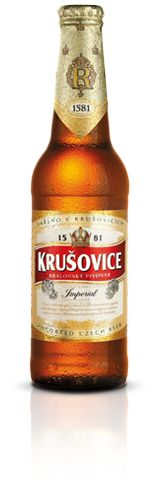 Krusovice beer is the best choice for those who want to enjoy a genuine, high quality Czech beer. It`s being produced in the same place, using the same ingredients from 1581: spring water of Krivoklat forest and Zatec hops (the most famous hops in the world). Krusovice Imperial is a lager, golden colour, with a slightly bitter taste and excellent foam.
