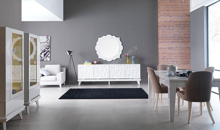 Lizbon Modern Yemek Odası  en güzel yemek  odası modelleri yıldız mobilya alışveriş sitesinde #diningroom #bedroom #avangarde #modern #pinterest #yildizmobilya #furniture #room #home #ev #decoration  http://www.yildizmobilya.com.tr/