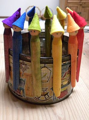Gnome Clothespins I want to do these but can't find the clothespins. Anyone know where they might have them?