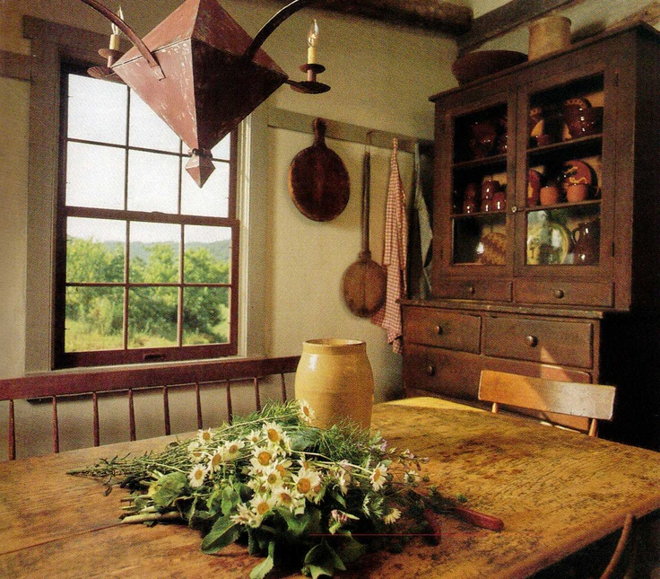 607 Best Images About Primitive/ Colonial Interiors On