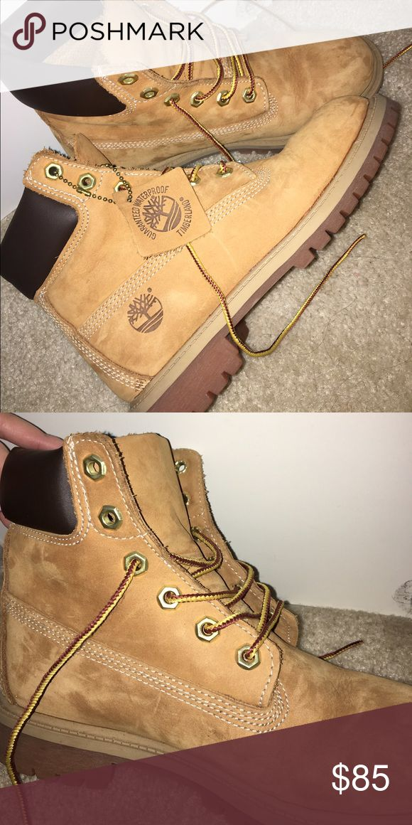 Original Timberlands size 5 Male Worn once, fits size 7 for girls Timberland Shoes Winter & Rain Boots