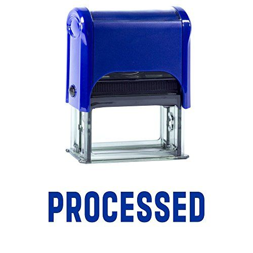 PROCESSED Self Inking Rubber Stamp (Blue Ink) - Large