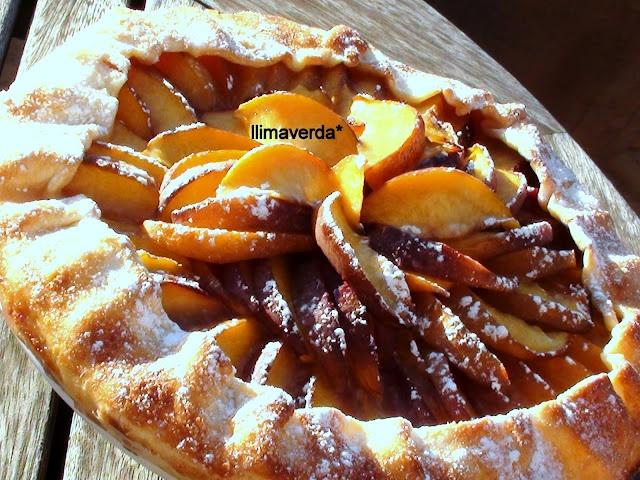 tarta de nectarina