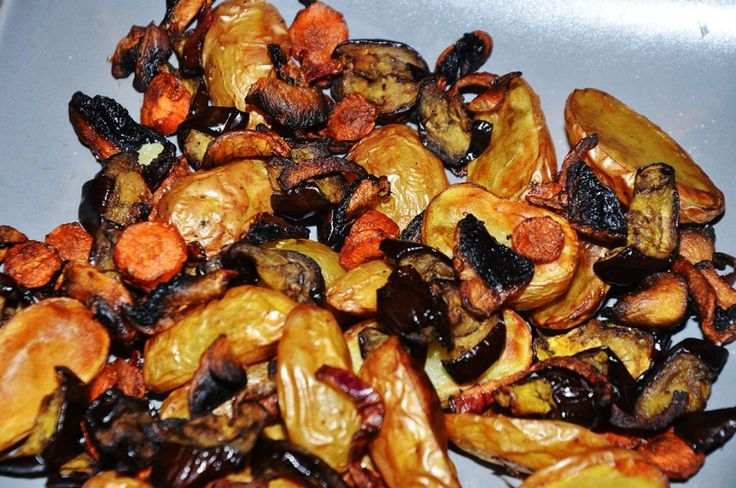 Poêlé de légumes : Aubergines, carottes, pommes de terre et champi