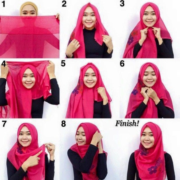 Tutorial Hijab By Mayra Hijab: Tutorial Jilbab Segi Empat Terbaru Untuk Pesta