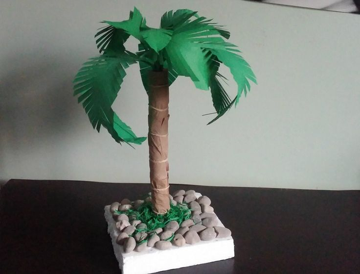 Palm tree. How to make a paper palm tree . Diy home decor