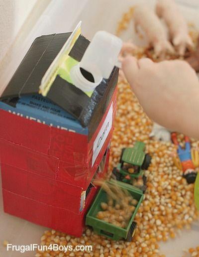 Farm Sensory Play Activity for Preschoolers
